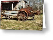 Antique Hay Bailer 1 Greeting Card by Douglas Barnett
