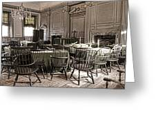 Antique Independence Hall Greeting Card by Olivier Le Queinec