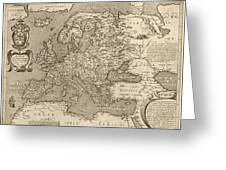 Antique Map Of Europe By Arnoldo Di Arnoldi - Circa 1600 Greeting Card by Blue Monocle