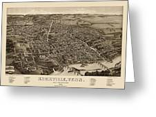 Antique Map Of Knoxville Tennessee By H. Wellge - 1886 Greeting Card by Blue Monocle
