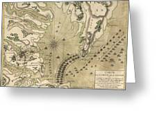 Antique Map Of The Battle Of Yorktown Virginia By Esnauts Et Rapilly - Circa 1781 Greeting Card by Blue Monocle