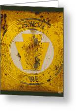 Antique Metal Pennsylvania Forest Fire Warden Sign Greeting Card by John Stephens
