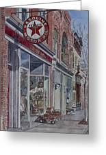 Antique Shop Beacon New York Greeting Card by Anthony Butera