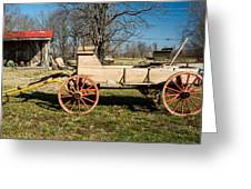 Antique Wagon And Mountain Cabin 1 Greeting Card by Douglas Barnett