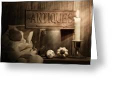 Antiques Still Life Greeting Card by Tom Mc Nemar