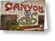 Apache Canyon Trading Post Greeting Card by Gregory Dyer