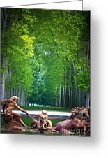 Apollo Fountain Greeting Card by Inge Johnsson