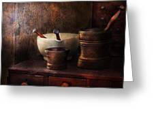 Apothecary - Pick A Pestle  Greeting Card by Mike Savad