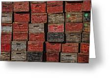 Apple Crates Greeting Card by Garry Gay
