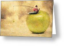 Apple Dream Greeting Card by Taylan Soyturk