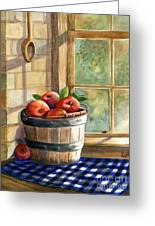 Apple Harvest Greeting Card by Marilyn Smith