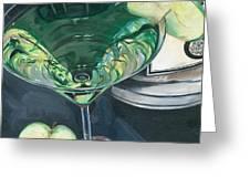 Apple Martini Greeting Card by Debbie DeWitt