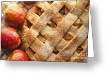 Apple Pie With Lattice Crust Greeting Card by Diane Diederich