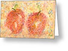 Apple Twins Greeting Card by Paula Ayers
