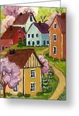 Applecreek Lane Greeting Card by MarLa Hoover