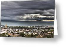 Approaching Storm Hdr Panorama  Greeting Card by Joe  Palermo