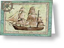 Aqua Maritime 1 Greeting Card by Debbie DeWitt