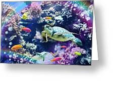 Aquarium Greeting Card by Alixandra Mullins