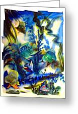Aquarium Archived Work  Greeting Card by Charlie Spear