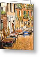 Arancio Sul Canale Greeting Card by Guido Borelli
