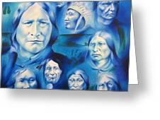 Arapaho Leaders Greeting Card by Robert Martinez