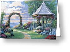 Arbor Light Greeting Card by John Zaccheo