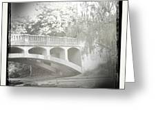 Arboretum Bridge Greeting Card by Justine Connolly