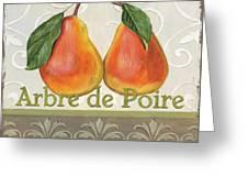 Arbre De Poire Greeting Card by Debbie DeWitt