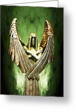 Archangel Azrael Greeting Card by Bill Tiepelman