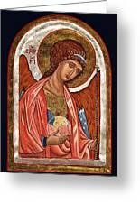Archangel Michael Greeting Card by Raffaella Lunelli