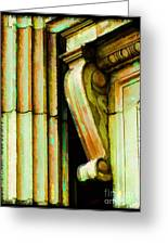Archatectural Elements  Digital Paint Greeting Card by Debbie Portwood