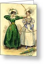 Archery Duchess Greeting Card by Berlaz