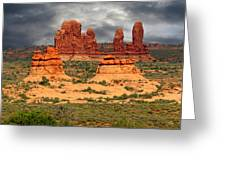 Arches National Park - A Picturesque Drama Greeting Card by Christine Till
