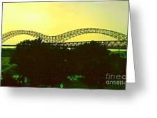 Arches Towards Little Rock And Memphis Greeting Card by Michael Hoard
