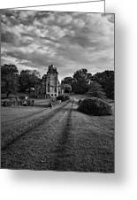 Architectural Treasure Bw Greeting Card by Susan Candelario