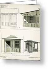 Architecture In Wood, C.1900 Greeting Card by Richard Dorschfeldt