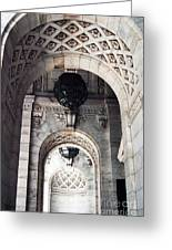 Archways At The Library Greeting Card by John Rizzuto