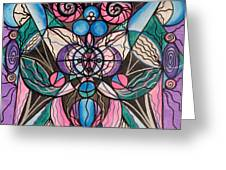 Arcturian Healing Lattice  Greeting Card by Teal Eye  Print Store