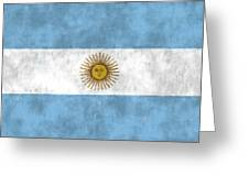 Argentina Flag Greeting Card by World Art Prints And Designs