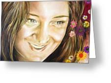 Ariana's Portrait Greeting Card by Karina Llergo Salto