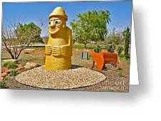 Arizona Harubang Statue Greeting Card by Gregory Dyer