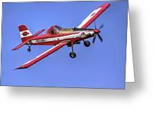 Arkansas Razorbacks Air Tractor Greeting Card by Jason Politte
