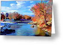 Arkansas River in Salida CO Greeting Card by Charles Muhle