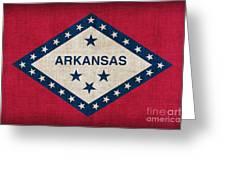 Arkansas State Flag Greeting Card by Pixel Chimp