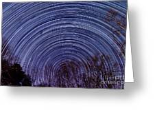 Arnold Startrails Greeting Card by Benjamin Reed