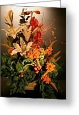 Arrangement Of Flowers Greeting Card by Diane Merkle