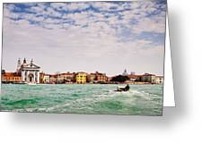 Arriving In Venice By Boat Greeting Card by Susan  Schmitz