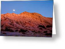 Arroyo Moonrise Greeting Card by Peter Tellone