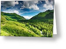 Art Beautiful Greens Landscape Greeting Card by Boon Mee