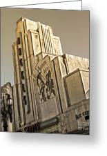 Art Deco Building Greeting Card by Gregory Dyer